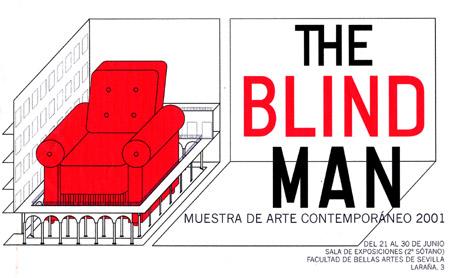 The Blind Man 2001. Diseño Cartel: Pedro Delgado