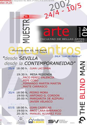 Cartel II Muestra THE BLIN MAN 2002