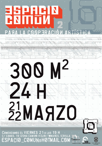 Cartel Espacio Común. Diseño: Pedro Delgado