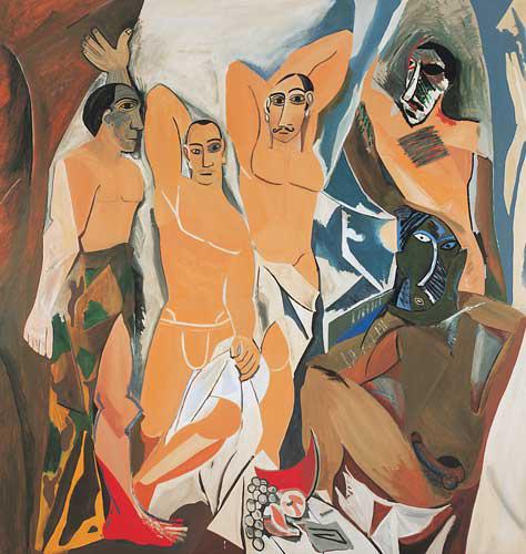 RAFAEL AGREDANO. Avignon Guys - 1994. Óleo s/ tela. 213 x 203 cm. Coleccion Fundación Fran Daurel, www.fundaciofrandaurel.com