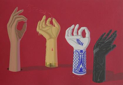 Jose Miguel Pereñiguez. Las Cuatro Estaciones, Acrílico sobre cartón. 54x75 cm - 2005