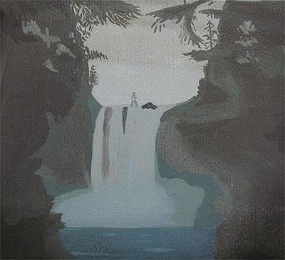 De la serie «Cascadas dobles». Oleo sobre lienzo, 2006 (24x22cm.)