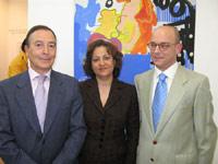 Teodoro Falcón, Concha Pedrosa y Andrés Luque Teruel. Archivo ABC