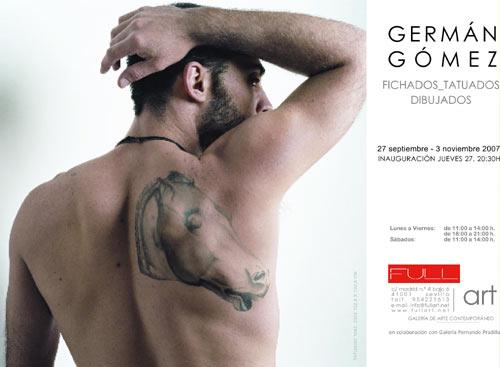 GERMAN GOMEZ. Fichados_Tatuados. Dibujados. Galería FullArt