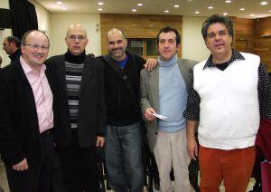 Miguel Fernández Cid, Antón Patiño, César Fernández Arias, Dis Berlin y Juan Ugalde. Foto: HENAR SASTRE