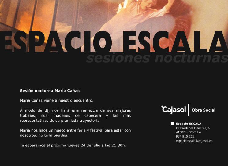María Cañas. Sesiones Nocturnas en el Espacio Escala. Cajasol