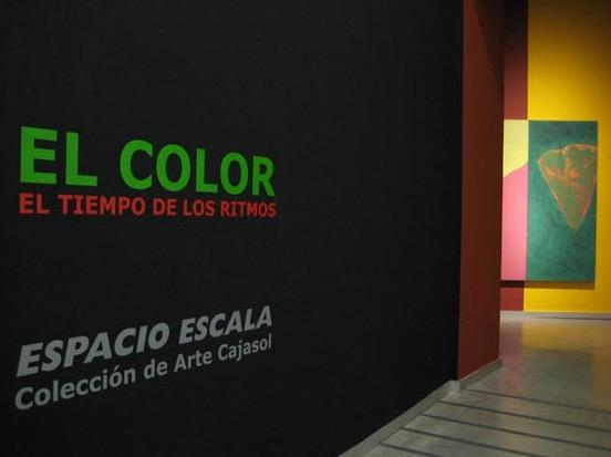 El color, el tiempo de los ritmos en el Espacio Escala de Cajasol, Sevilla. Foto: www.diariodesevilla.es