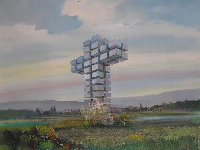 El cielo es nuestro, óleo sobre lienzo. 81x60 cm. 2008