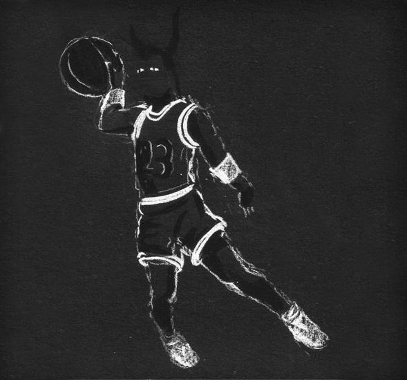 El rizo de tu pelo negro, en la imagen obra de Alejandro Durán. Liberty & superhero III noir, 2009. Lápiz conté sobre papel negro. 15x15cm cu, 6 piezas.