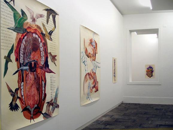 Lección de Anatomía, de la artista Ángeles Agrela, en la Galería Manuel Ojeda