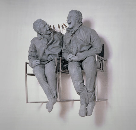 Two Seated on the Wall, 2000
