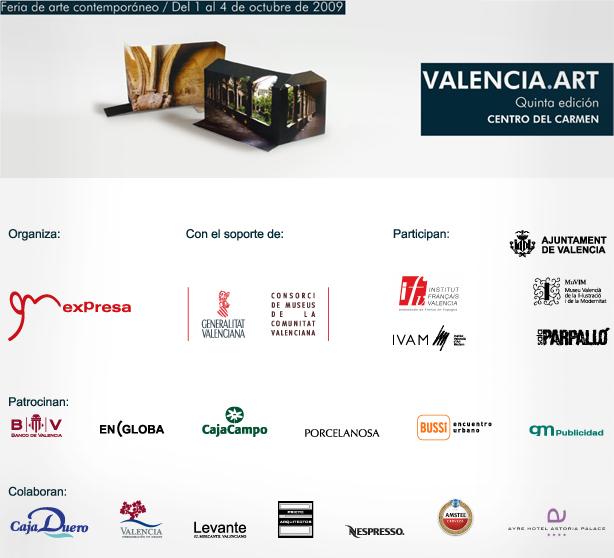 V edición de la Feria de arte contemporáneo Valencia Art. 2009
