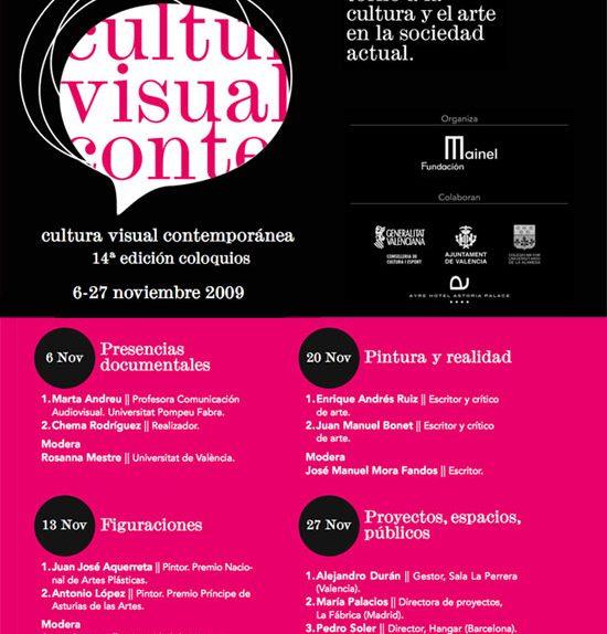 La XIV edición de los coloquios de Cultura Visual Contemporánea