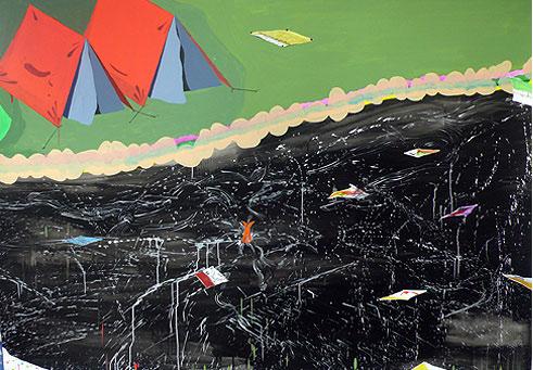 SUMMER VACATION Acuarela y acrílico s/ papel 2008 150 x 210 cm