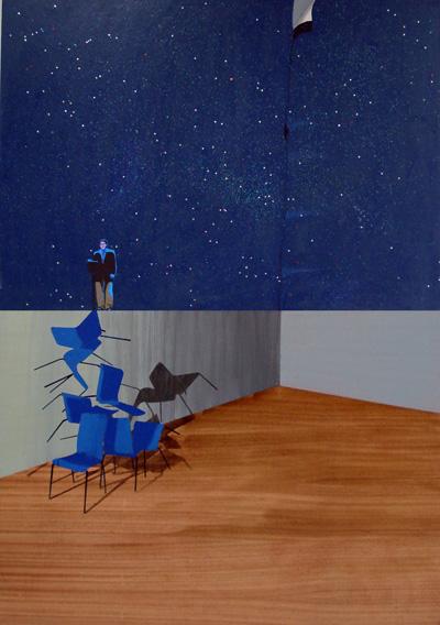 Discurso 150 x 105 cm Mixta sobre cartón y tabla 2009
