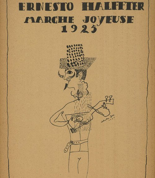 Ernesto Halffter, Marche joyeuse, Madrid, Unión Musical Española, 1925. Cubierta de Salvador Dalí