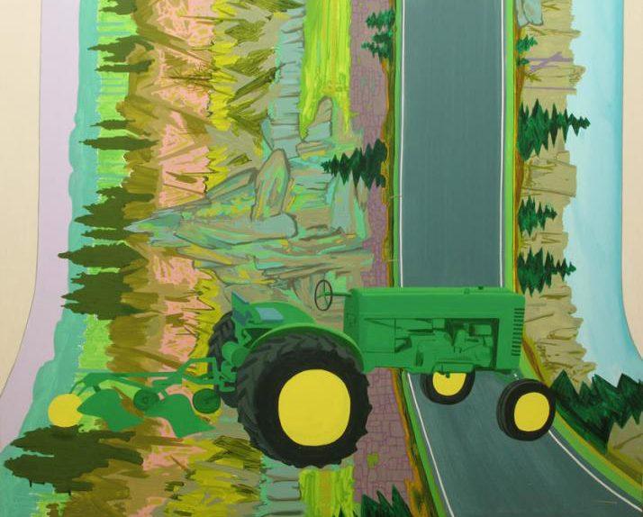 Ramón David Morales. Tractor destructor. Acrílico sobre lienzo. 60 x 73. 2010