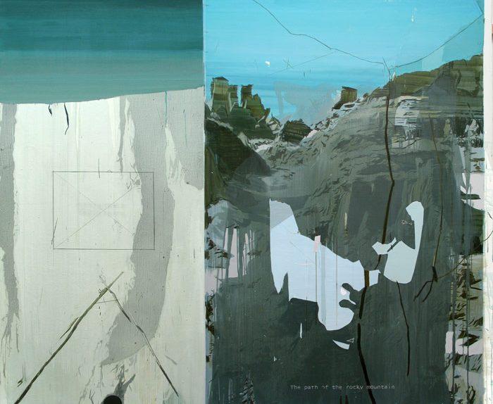 Rubén Guerrero. The path of the rocky mountain 2010 Oleo y esmalte s lienzo 200 x 220 cm
