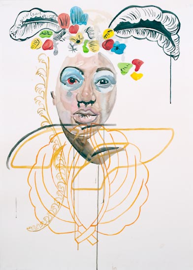 MARIANA SARRAUTE La Flor, 2010 Acuarela, tinta y acrílico sobre papel 100x70cm