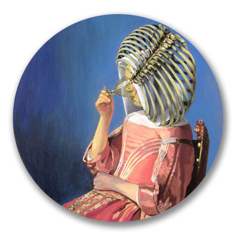 Ángeles Agrela. La jarra de vino - Vermeer, 2011. Óleo sobre tabla, 120 x 120 cm